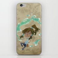 chibi iPhone & iPod Skins featuring Chibi Korra by Serena Rocca