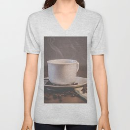 Coffee Unisex V-Neck