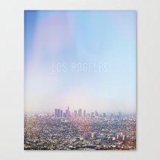 Los Angeles Skyline Typography  Canvas Print