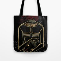 camus Tote Bags featuring the stranger - camus by miles to go