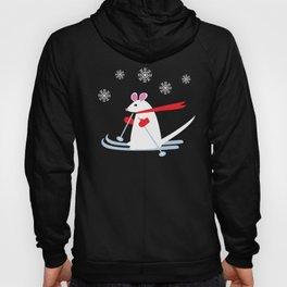 Christmas Mouse on Skis Hoody