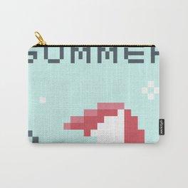 8Bit Retro Summer Umbrella Carry-All Pouch
