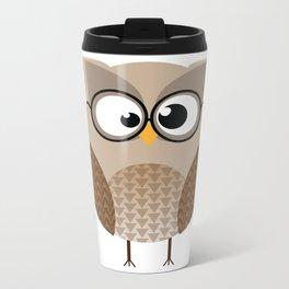 OWL KNOWS EVERYTHING Metal Travel Mug