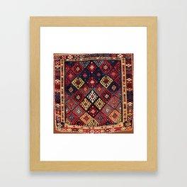 Jaff Kurdish West Persian Bag Print Framed Art Print