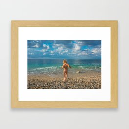 Seachild Framed Art Print
