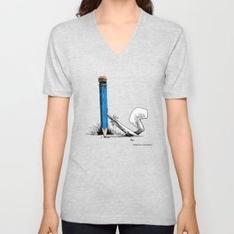 pencil pushing Unisex V-Neck