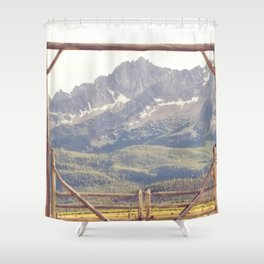 Western Mountain Ranch Shower Curtain