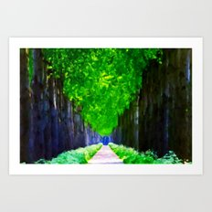 Leaves In The Sky - Painting Style Art Print
