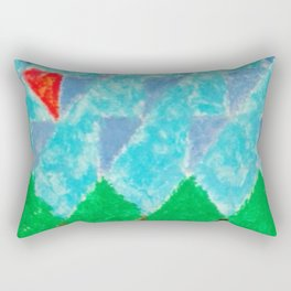 Triangle Landscape Rectangular Pillow