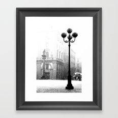 Florence in the Spring Rain Framed Art Print
