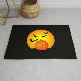 Halloween Moon Jack-O-Lantern Rug