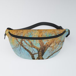 Weeping willow watercolor painting #5 Fanny Pack