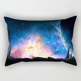 over the galaxy Rectangular Pillow