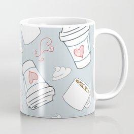 Coffee Love Pattern Coffee Mug