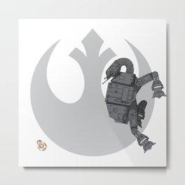 Droid Eek! (grey) - BB8 and AT-AT Standoff Metal Print
