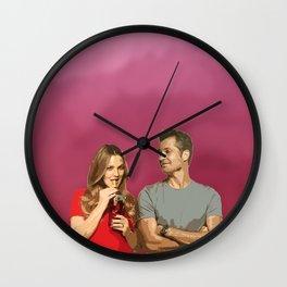 Santa Clarita Diet (Joel and Sheila) Wall Clock