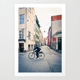 Copenhagen Bicycle (Alternate Size) Art Print
