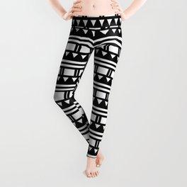 Hopi Stripe - Black and White Leggings