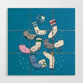 Lost Sock Party Wood Wall Art