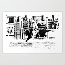 Rodeo Bull Rider Art Print