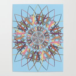 Lizard Snowflake Poster