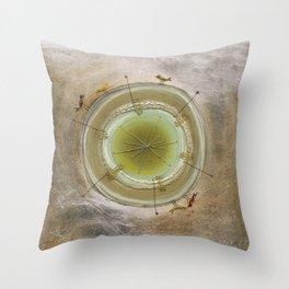 Metallic Tree Throw Pillow