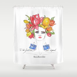 Tulips and Handbags Fashion Art  Shower Curtain