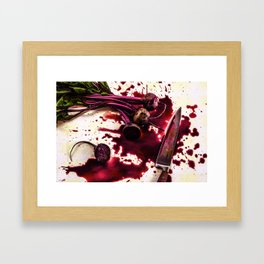 Beets on the Table Framed Art Print