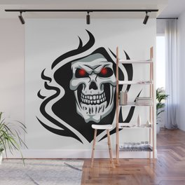 Skull tribal tattoo Wall Mural