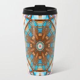 Geometric kaleidoscope with optical effects Travel Mug