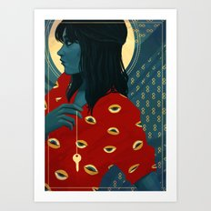 Three of Swords Art Print