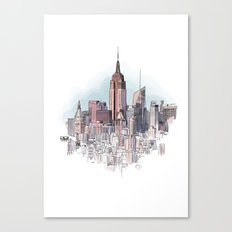New York cityscape - Architectural illustration Canvas Print