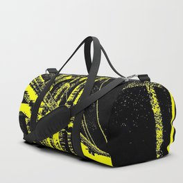 Sketched Brooklyn Bridge Yellow on Black Duffle Bag