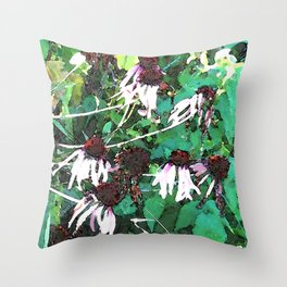 Watercolor Echinacea Throw Pillow