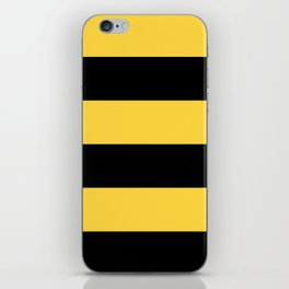 Even Horizontal Stripes, Yellow and Black, XL iPhone Skin