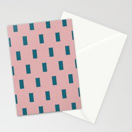 Minimal Rectangle pattern pink and blue Half drop Stationery Cards