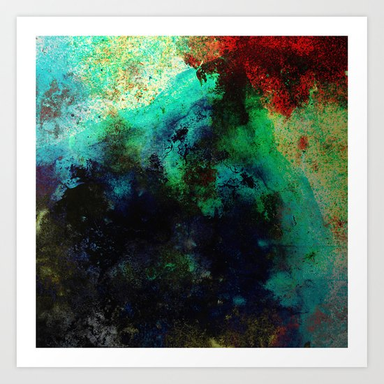 The Life In Your Veins - Abstract, acrylic, textured painting Art Print