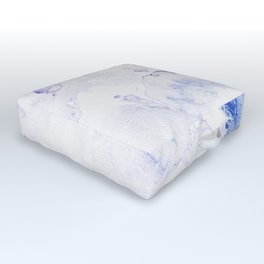 Modern abstract navy blue lavender watercolor Outdoor Floor Cushion