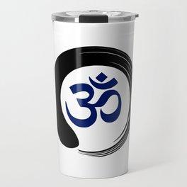 Namaste Zen Circle Meditation Prayer Ohm Aum Om Oum Peace Tai Chi Taiji Travel Mug