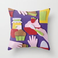 breakfast Throw Pillows featuring Breakfast by Jacopo Rosati