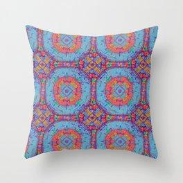 Dragonfly Mandala Pattern Throw Pillow