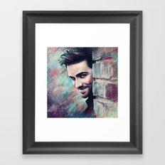 Captain's Grin Framed Art Print
