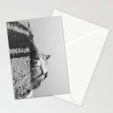 Sleeping Cat in Black and White Stationery Cards