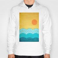 sunrise Hoodies featuring Sunrise by sinonelineman