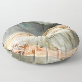 Sleeping Nude - Madeleine Jeanne Lemaire Floor Pillow