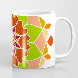 Colorful Tribal Ethnic Festive Abstract Floral Pattern Coffee Mug