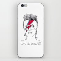 bowie iPhone & iPod Skins featuring Bowie by ☿ cactei ☿