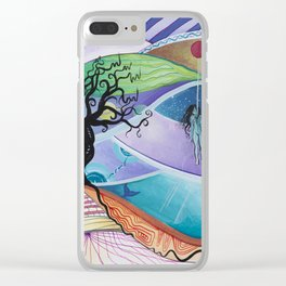 Psychedelic Suicide Clear iPhone Case