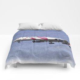 Delta Airlines Boeing 767 Art Comforters