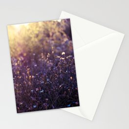 evening flowers Stationery Cards